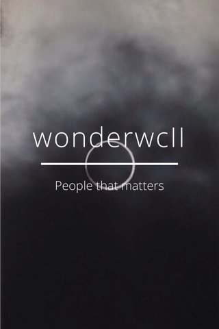 wonderwcII People that matters