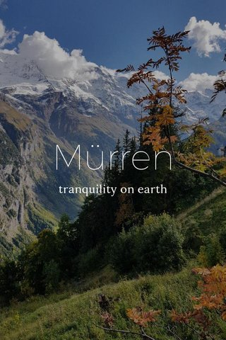 Mürren tranquility on earth