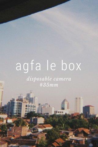 agfa le box disposable camera #35mm