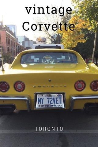 vintage Corvette TORONTO