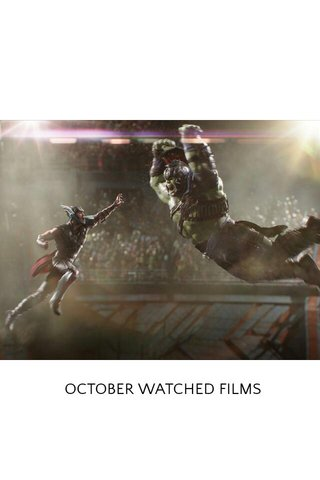 OCTOBER WATCHED FILMS