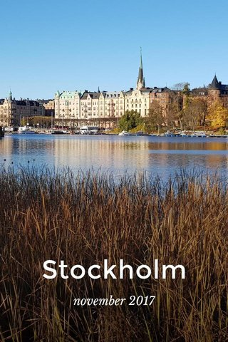 Stockholm november 2017