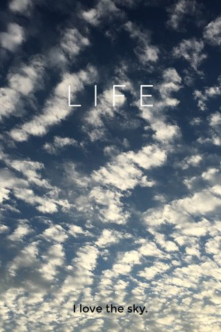 LIFE I love the sky.