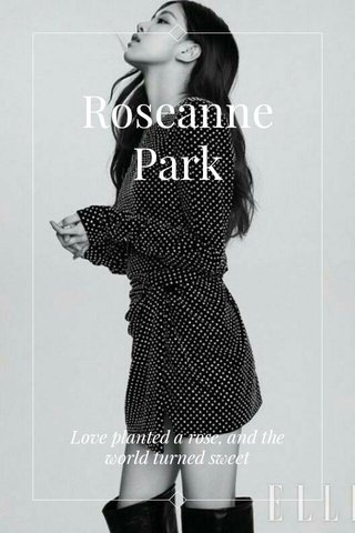 Roseanne Park Love planted a rose, and the world turned sweet