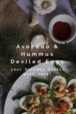 Avocado & Hummus Deviled Eggs your Holiday Guests will love!