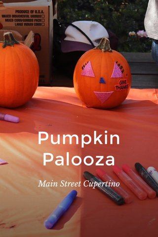 Pumpkin Palooza Main Street Cupertino