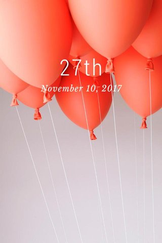 27th November 10, 2017