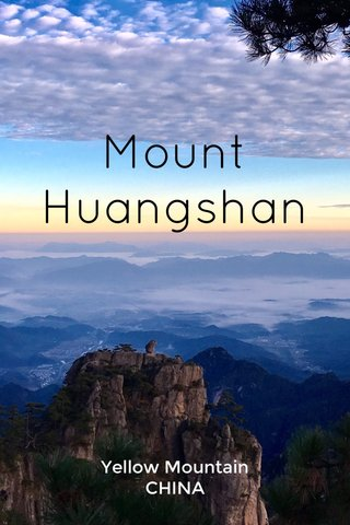 Mount Huangshan Yellow Mountain CHINA