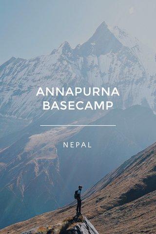 ANNAPURNA BASECAMP NEPAL