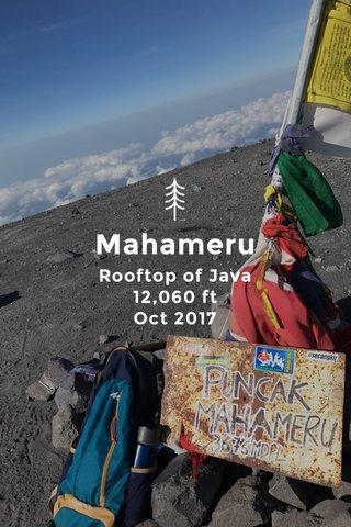 Mahameru Rooftop of Java 12,060 ft Oct 2017