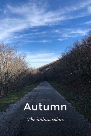 Autumn The italian colors