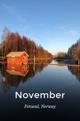 November Fetsund, Norway