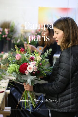 Pampa paris | modern flower delivery |