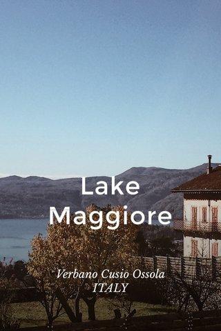 Lake Maggiore Verbano Cusio Ossola ITALY