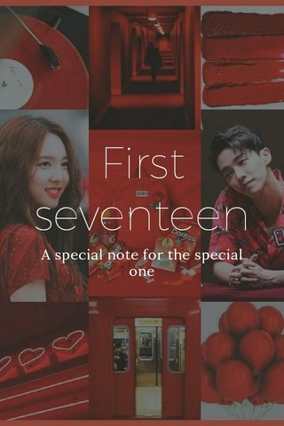 First seventeen A special note for the special one
