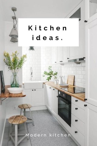 Kitchen ideas. Modern kitchen