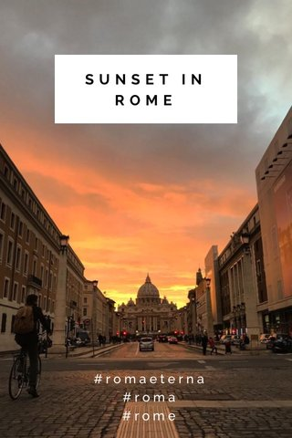 SUNSET IN ROME #romaeterna #roma #rome