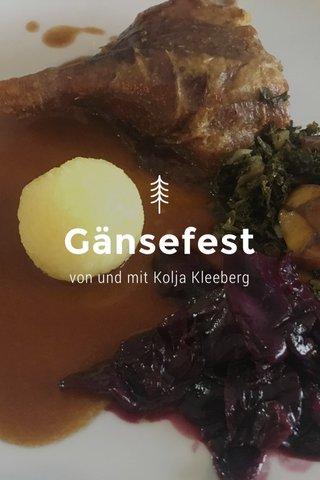Gänsefest von und mit Kolja Kleeberg