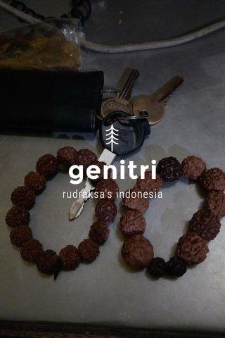genitri rudraksa's indonesia