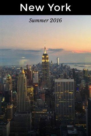New York Summer 2016
