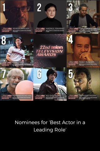 Nominees for 'Best Actor in a Leading Role'
