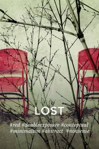 LOST #red #doubleexposure #conceptual #minimalism #abstract #nonsense