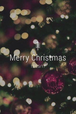 Merry Christmas 12/25/17