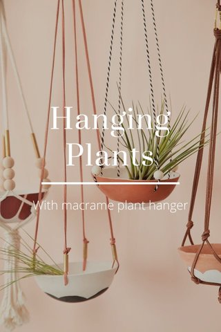 Hanging Plants With macrame plant hanger