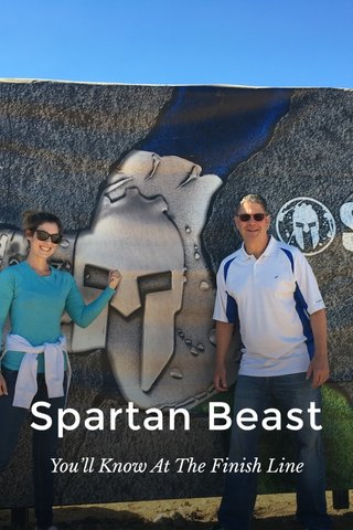 Spartan Beast You'll Know At The Finish Line