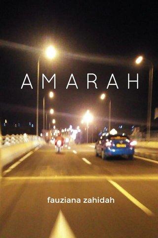 AMARAH fauziana zahidah