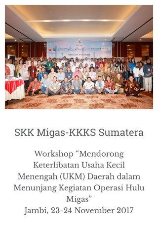 SKK Migas-KKKS Sumatera