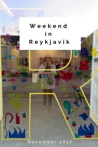 Weekend in Reykjavik November 2017