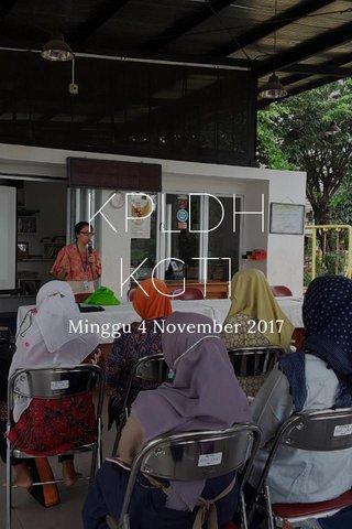 KPLDH KGT1 Minggu 4 November 2017
