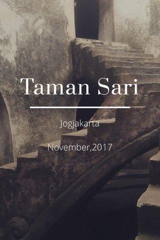 Taman Sari Jogjakarta November,2017