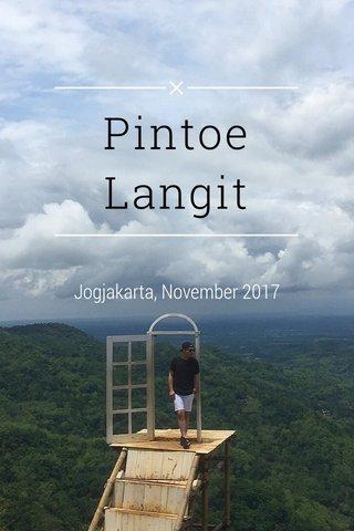 Pintoe Langit Jogjakarta, November 2017