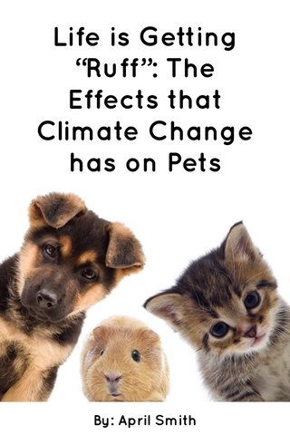"""Life is Getting """"Ruff"""": The Effects that Climate Change has on Pets By: April Smith"""
