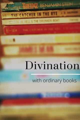 Divination with ordinary books