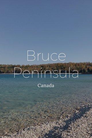 Bruce Peninsula Canada