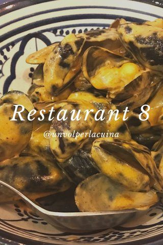 Restaurant 8 @unvolperlacuina