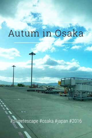 Autum in Osaka #sweetescape #osaka #japan #2016
