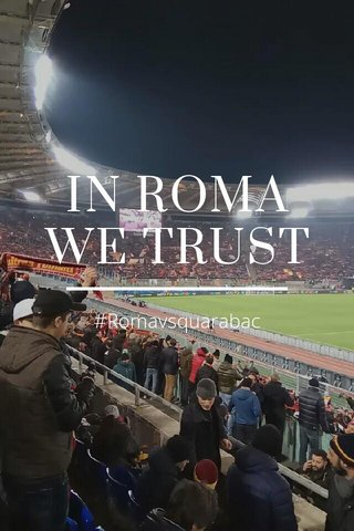 IN ROMA WE TRUST #Romavsquarabac
