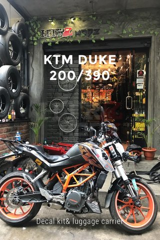 KTM DUKE 200/390 Decal kit& luggage carrier