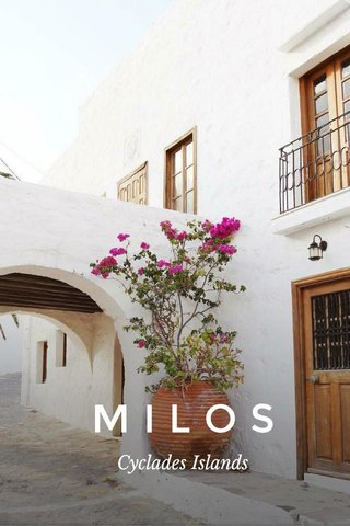 MILOS Cyclades Islands