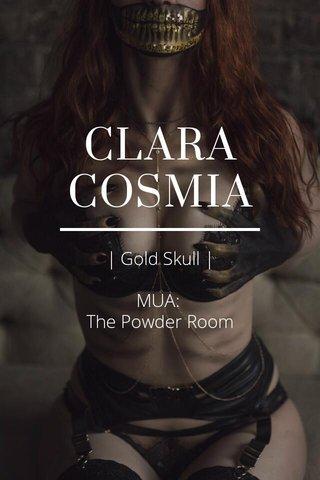 CLARA COSMIA   Gold Skull   MUA: The Powder Room