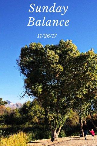 Sunday Balance 11/26/17