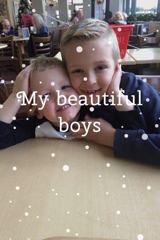 My beautiful boys