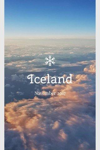 Iceland November 2017