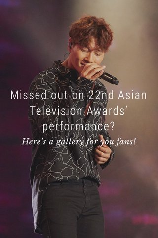 Missed out on 22nd Asian Television Awards' performance? Here's a gallery for you fans!