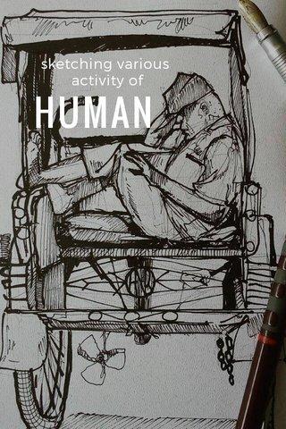 HUMAN sketching various activity of