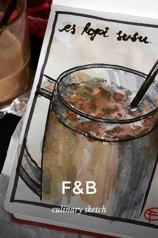 F&B culinary sketch